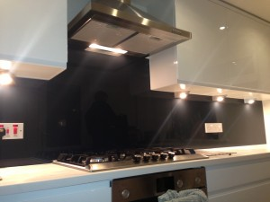 black glass splash backs