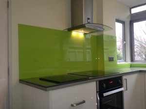 lime green splash backs