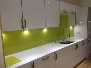 green splash backs
