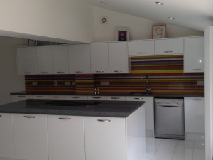 RAINBOW GLASS SPLASH BACK