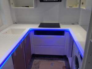 white hi-mac with led lights