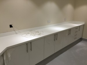 white corian with upstands